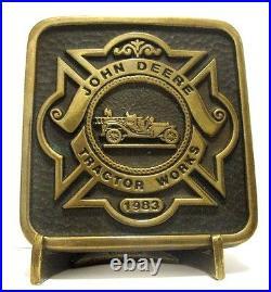 1983 John Deere Tractor Works Waterloo Employee FIRE BRIGADE Belt Buckle 1 of 50