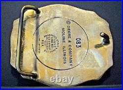 1991 John Deere FIRE BRIGADE Product Engineering Center Belt Buckle 35 Years #83