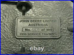 1999 John Deere Australia EMPLOYEE Service Training Pewter Belt Buckle Ltd Ed #1