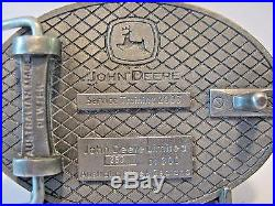 2003 John Deere Employee Ag Service Training Belt Buckle Australia Lt Ed 260/300