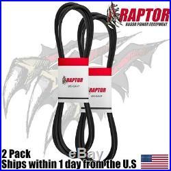 2PK Replacement Raptor Deck Belt for John Deere GX20072 GY20570 (1/2x103)