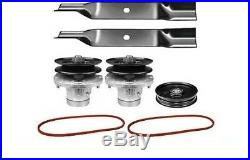 38 Mower Deck Rebuild Kit Fits John Deere LX176 LX178 Blades Spindles Belts 115