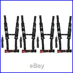 (4) Pro Armor 5 Point 2 Harness Seat Belt Black RZR Maverick 900 1000 XP Turbo