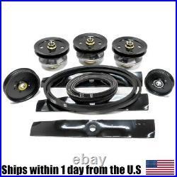48 Mower Deck Rebuild Kit Fits John Deere LX186 LX188 Blades Belts Pulleys 122