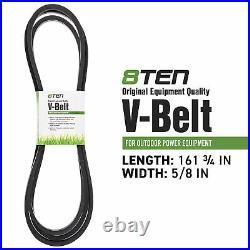 8TEN Spindle Flat Belt Kit for John Deere D170 G110 LA150 LA175 54 Inch Deck
