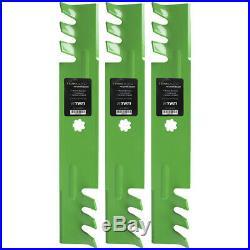 Deck Blade Spindle Belt Kit Set John Deere LA145 LA165 D140 D150 D160 X140 X165