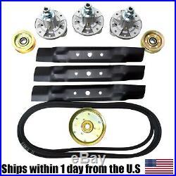 Deck Idler Belt Rebuild Kit Spindle Blade Belt For John Deere Scotts L2048 L2548