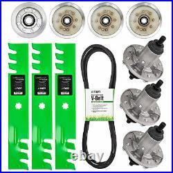 Deck Rebuild Kit Blade Spindle Belt Idler John Deere D140 D150 D160 48 Inch