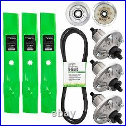 Deck Rebuild Kit Blade Spindle Belt Idler John Deere X165 E150 E170 E160 48 Inch
