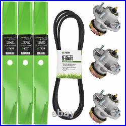 Deck Rebuild Kit Blade Spindle Belt for John Deere LT166 Lawn Tractors 48 Inch