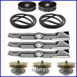 Deck Rebuild Kit Spindle Belt Blades for John Deere Mower 325 335 345 355D With48
