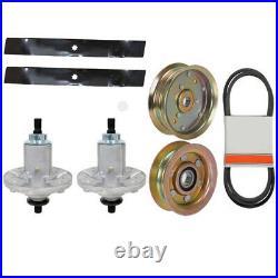 Deck Rebuild Kit Spindles-Blades-Belt-Idlers Fits John Deere 42 D130 100 Series