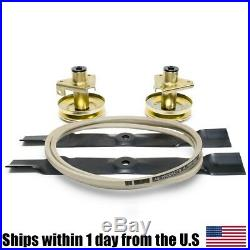 Deck Spindle Blade Belt Kit Combo Set John Deere Scotts S1642 S1742 Mower