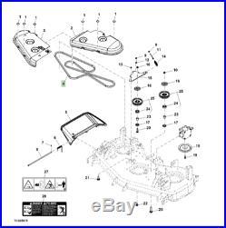 Genuine John Deere 1445 60 Inch Deck Drive Belt TCU21054