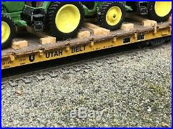 HO Scale Athearn UB Utah Belt 60 Flat Car Ertl John Deere Tractor Load N Mexico