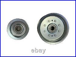Idler Pulley Kit with 42 Deck Belt Fits John Deere E100 E110 E120 E130