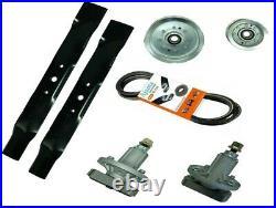 JOHN DEERE GY20995 42 Deck Rebuild Kit- Blades, Belt, Spindles, Pulleys DK-12