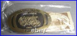 John Deere 1990 Safety Award Belt Buckle Moving Iron Safely Model D Tractor 1929