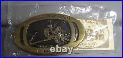 John Deere 1992 Cutting Cost of Safety Award Belt Buckle Antique Horse Mower