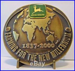 John Deere 2000 Millennium Service Training Belt Buckle Australia NZ Ltd Ed 001