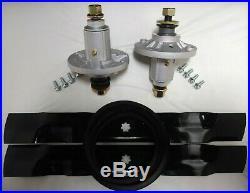 John Deere 42 LA115 100 Series Deck Rebuild Kit Spindles Blades Belt