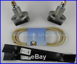 John Deere 42 Lawn Mower Spindle, Blade and Belt Set L100 L105 L107 L108 L110