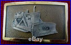 John Deere 450 Crawler Dozer 4-Leg 1966 Deer Belt Buckle RARE