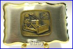 John Deere 450B Crawler Tractor Dozer Bulldozer Belt Buckle with 1968 Trademark