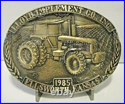 John Deere 4650 Tractor LLOYD IMPLEMENT Dealership Belt Buckle 1985 Ellsworth KS