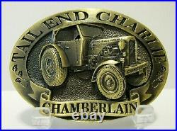 John Deere Australia Chamberlain CHARLIE Tractor Bronze Collector Belt Buckle