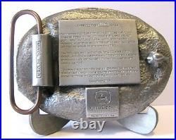 John Deere Des Moines Works 4710 Sprayer 9986 Cotton Picker 2002 Belt Buckle jd