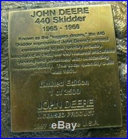 John Deere Dubuque Works 440 Log Grapple Cable Skidder 1997 Belt Buckle Ltd Ed