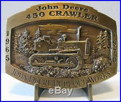 John Deere Dubuque Works 450 Crawler Tractor Dozer 1997 Belt Buckle Limited Ed