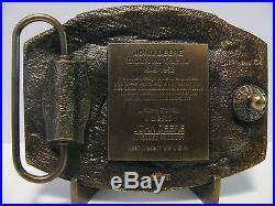 John Deere Dubuque Works MI Wheel Tractor 1997 Belt Buckle Limited Ed