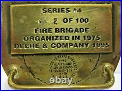John Deere Engine Waterloo 1995 FIRE BRIGADE Belt Buckle 20 Year EMPLOYEE 2/100