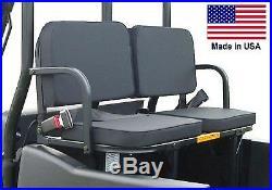John Deere Gator REAR ADDON SEATS 350 Lb Cap Safety Belts Install Brackets
