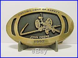 John Deere Horse Drawn Mower 1992 Minneapolis Employee Safety Award Belt Buckle