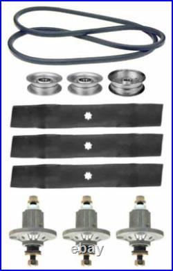 John Deere LA130 Series 48 Mower Deck Parts Kit Spindles Blades Belt Idlers
