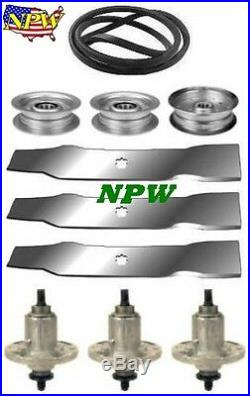 John Deere LA145 100 Series 48 Mower Deck Parts Kit Spindles Blades Belt Idlers