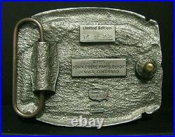 John Deere Parts Depot Denver 8 Yr EMPLOYEE Safety Award 1996 Pewter Belt Buckle