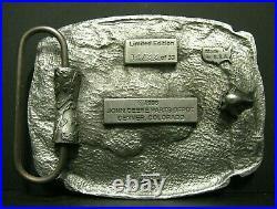 John Deere Parts Depot Denver 9 Yr EMPLOYEE Safety Award 1997 Pewter Belt Buckle