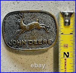 John Deere Rare Belt Buckle First Original 4 Legged Deer 1920s-1930s