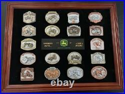 John Deere Rare Bradford Exchange Belt Buckle Complete Set 18 Buckles