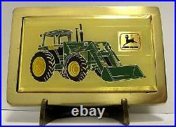 John Deere Tractor Loader Belt Buckle 1984 Canadian Farm Progress Show ball tip
