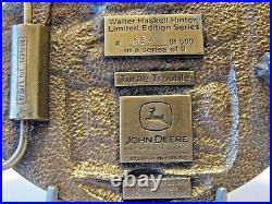 John Deere Tractor Walter Hinton Turtle Trouble Belt Buckle 4 Four Leg Deer Logo