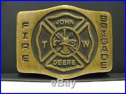 John Deere Waterloo Tractor FIRE BRIGADE Belt Buckle 1983 1st Release 1/50
