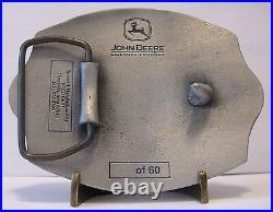 John Deere Waterloo WAS FIRE Brigade Hazmat EMPLOYEE Belt Buckle 2001 sn 1 of 60