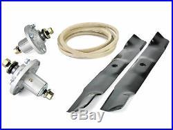 John Deere X300 42 Deck Rebuild Kit Spindle Blade and Belt AM143469 M154621