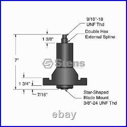 LT2000 42 Lawn Mower Deck Rebuild Kit 144959 134149 130794 Belt, Spindles, More