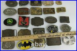 Lot of 30 Modern & Vintage Mixed Belt Buckle Lot John Deere Batman Pink Floydd